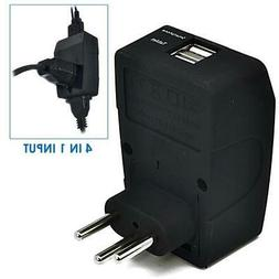 Ceptics Universal to Brazil Travel Adapter - Type N - 4 in 1