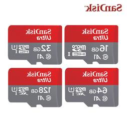 NEW SanDisk 16GB 32GB 64GB Ultra A1 Micro SD SDHC Card 98MB/