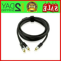 NEW Connecting TV Cable RCA Y-Adapter  Digital Audio Subwoof