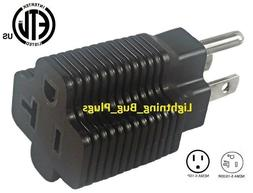 NEW! Male 15 Amp to 20 Amp Female Plug T-Blade Adapter 3 Pro