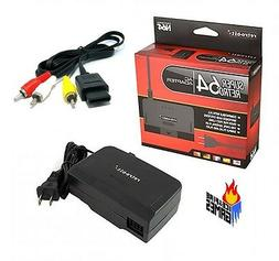 New N64 Combo: AC Power Adapter Cord + Audio Video AV Cable