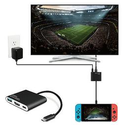 Nintendo Switch to HDMI Adapter USB 3.0 Hub Adapter Dock Con