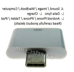 Old iPhone 30 Pin to New Galaxy USB C Adapter Converter Data
