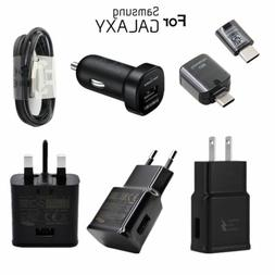 Original Fast Wall Car Charger Cable OTG Adapter For Samsung