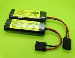 PAIR OF 1600 BATTERY PACKS FOR 1/16 E-REVO EREVO / WITH ADAP