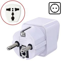 POWER Travel Adapter Plug for FRANCE GERMANY SPAIN TURKEY EU
