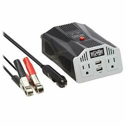 PV400USB 400W Compact Car Inverter 12V 120V 2-Port USB Charg