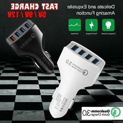 QC3.0 4 Ports Fast Charging Car Charger Adapter For Google P