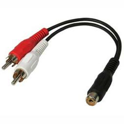 6inch RCA Female to 2-RCA Male Digital Coaxial Splitter Adap