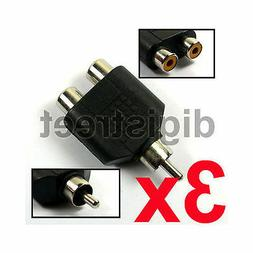RCA Male to 2 Phono Female Y Splitter Lead Cable Adapter for