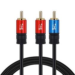 SHD RCA To 2RCA Subwoofer Cable Audio 1RCA Bi-Directional Y