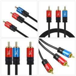 RCA to 2RCA Subwoofer Cable Audio to 1RCA Bi-Directional Y A
