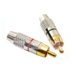 red gold solder rca male