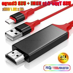 USB-C Type-C to HDMI HDTV Adapter Cable 4K 60Hz Samsung S9 S