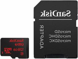SanDisk Ultra 128GB microSDXC UHS-I Card with Adapter, Black