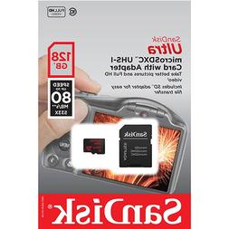SanDisk Ultra 128GB MicroSD XC Class 10 UHS-1 Mobile Memory
