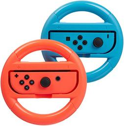 AmazonBasics Steering Wheel for Nintendo Switch - Blue/Red