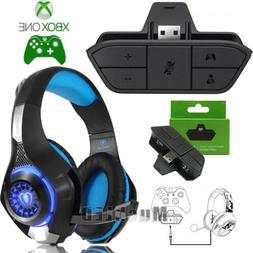 stereo headset headphone audio game adapter