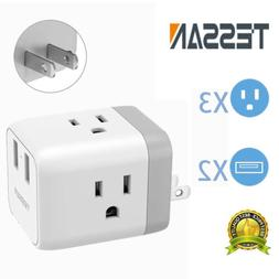 Travel Adapter for US to Japan Canada Mexico With 3 Outlets