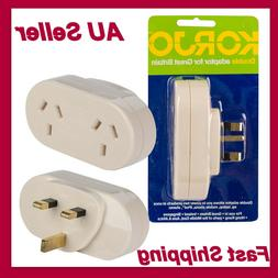 Korjo Travel Plug Power Adapter Outlet AUS AU/NZ Socket to G
