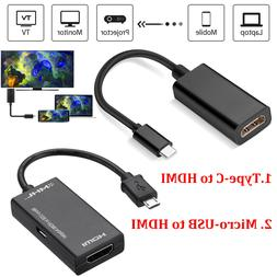 Type C MHL USB to HDMI HDTV AV TV Cable Adapter For Samsung