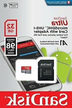 SanDisk Ultra 32GB microSDXC UHS-I A1 Flash Memory Card with
