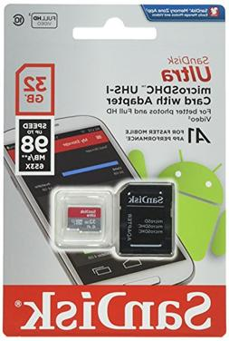 Sandisk Ultra 32GB Micro SDHC UHS-I Card with Adapter - 98MB