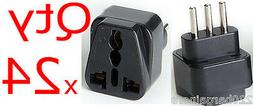 Universal Plug Adapter For Italy 24Pk 3-Pin For Italian Elec