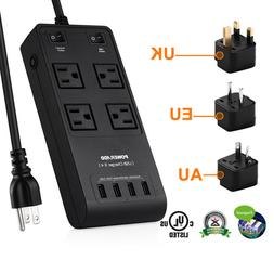 1875W/15A 7 Outlet Power Strip Surge Protector with 5 USB Ch