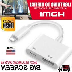 US For Apple Iphone 6 7 8 + X Ipad Lightning to HDMI Digital