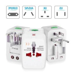 US to EU Travel Adapter Charger Converter Universal AC Power
