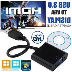 USB 3.0 to VGA Video Graphic Display Card  External Adapter