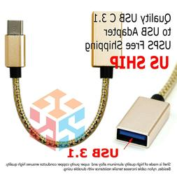 USB-C 3.1 Type C Male to USB 3.0 Type A Female OTG Adapter C