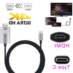USB-C 3.1 Type C to HDMI TV HDTV computer Cable for Samsung