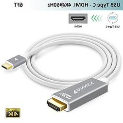 USB-C to HDMI Cable,,FOINNEX USB Type-C HDMI Adapter Cord  f
