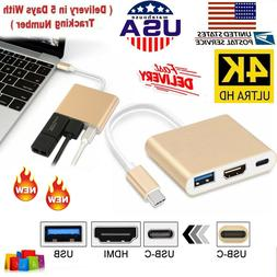 USB-C to HDMI 4K Multiport Adapter USB 3.1 Type-C to HDTV HD