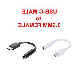 USB-C Type C Adapter Port to 3.5MM Aux Audio Jack Earphone H