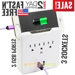 usb outlet plug wall tap socket electrical