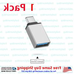 USB Type C Male to USB A Female OTG Adapters - 2 Pack