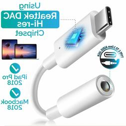 USB Type C to 3.5mm AUX Headphone Adapter For S8 S8+ S9 S9+