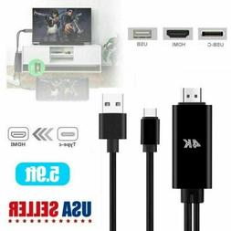 USB Type-C to HDMI 4K HD Cable Adapter Converter for Laptop