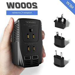 TryAce 2000W Voltage Converter with 2 USB Ports,Set Down 2