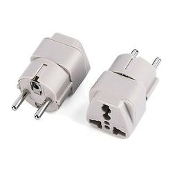 Wonpro Grounded Schuko Travel Plug Adapter Type E/F for Spai