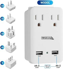 Worldwide Travel Adapter Kit-Universal Electrical Adapters T