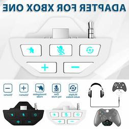 For Xbox One Controller Gamepad Stereo Headset Adapter Audio
