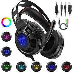 Ericy M190 Stereo Gaming Headset for PS4, PC, Xbox One Contr